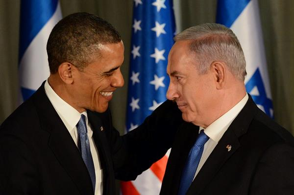 U.S. President Barack Obama and Israeli Prime Minister Binyamin Netanyahu at their joint press conference in Jerusalem (photo: Koby Gidon / Government Press Office)