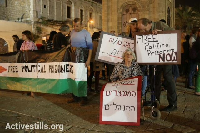 A vigil in Jaffa this week. More than 40 consecutive days of protest (Yotam Ronen / Activestills)