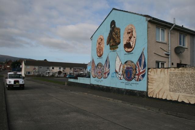 Unionist murals in Belfast (Haggai Matar)