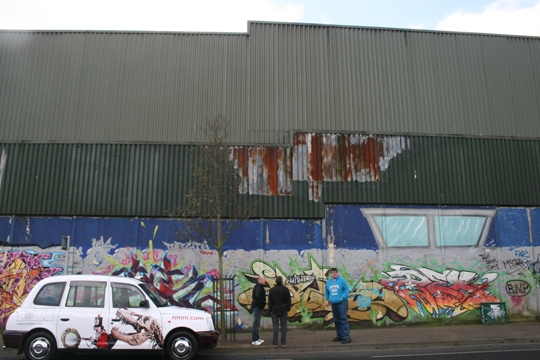"""One of Belfast's """"Peace Walls"""". Almost twice as high as the on in Israel-Palestine (Haggai Matar)"""
