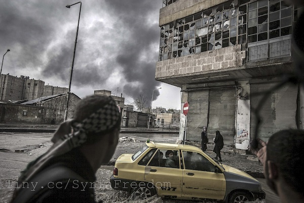 Bombed out buildings in Aleppo, Syria. December 26, 2012 (Freedom House/CC)