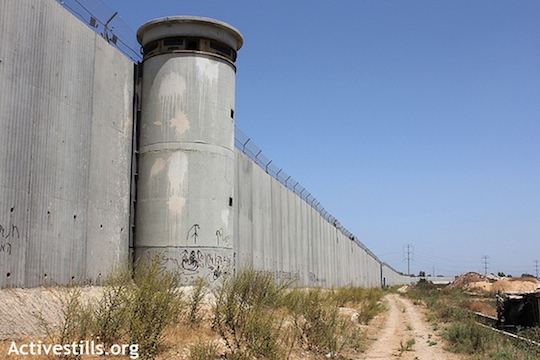 A section of Israel's separation wall in the West Bank. (Activestills.org)