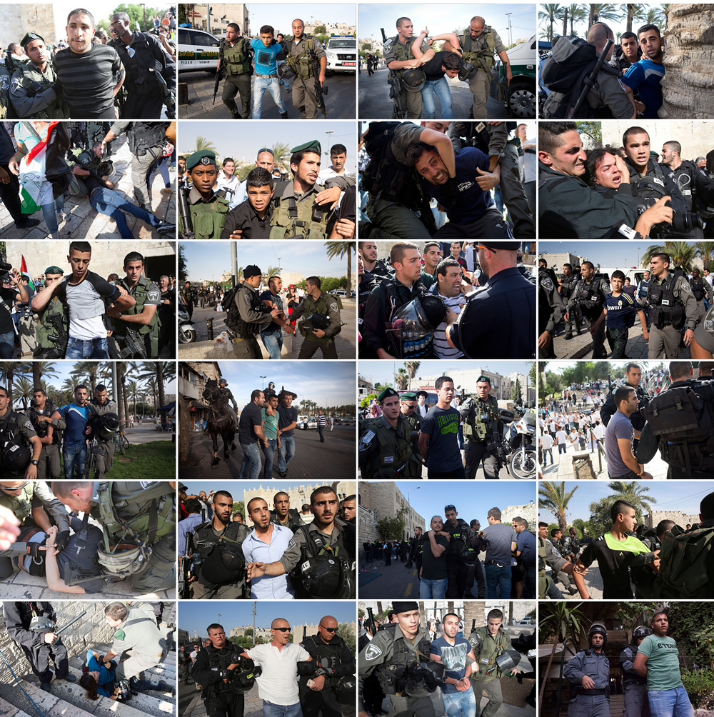 Photo collage: Israeli forces arrest dozens in Jerusalem Day clashes