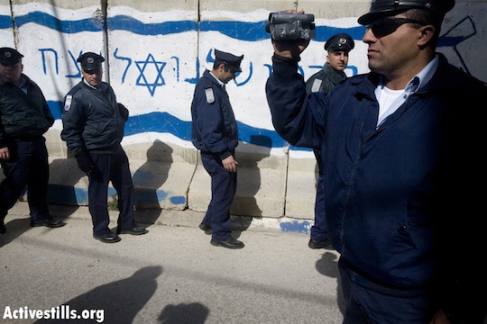 Israeli police [illustrative photo] (Oren Ziv/Activestills.org)