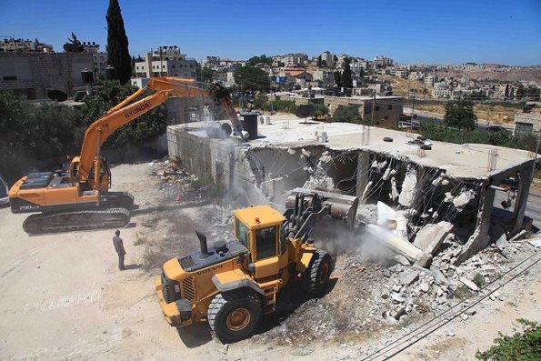 The State of Israel demolished the Abu-Saffa family house, leaving 12 people homeless, Feb 18, Beit Hanina, East Jerusalem. (photo: PNN.)