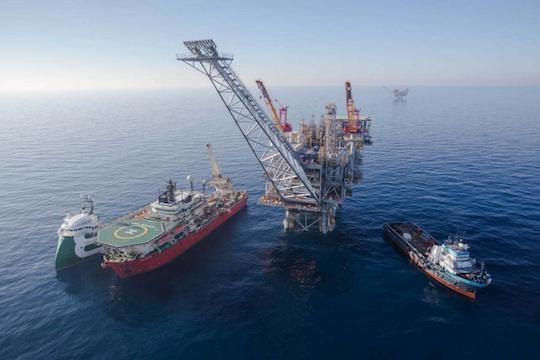 The Tamar natural gas platform (Photo: Noble Energy)