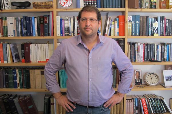 Attorney Michael Sfard in his Tel Aviv law office, July 23, 2013. (Photo: Matt Surrusco)