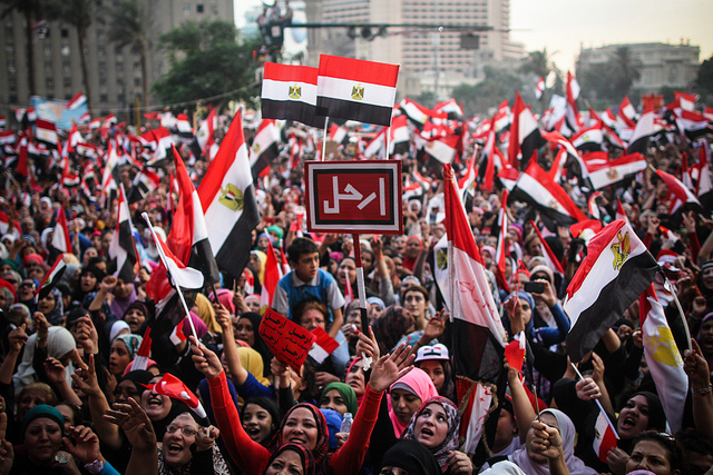 The Egyptian people rise up and overthrow Morsi - or was it the army..?