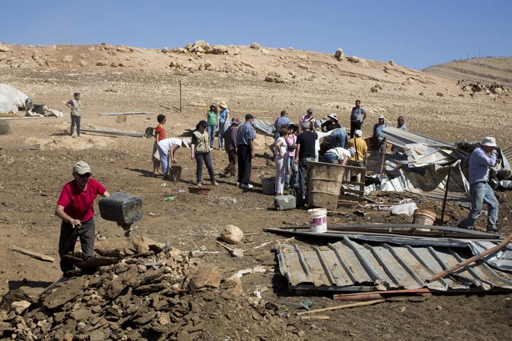 PHOTOS: A week in the demolished West Bank village of Khirbet Al-Makhoul