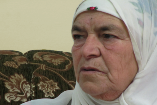 Mariam Hassan Hamad, resident of the village of Silwad, whose land was taken by the settlers of Amona. (photo: Yesh Din)