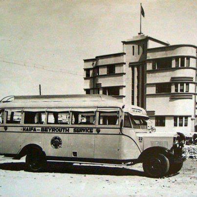 Haifa – Beirut bus service. (photographer unknown)