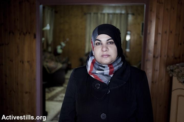 Jawahir Nassar, mother of five, married since 1996, Jatt. (Shiraz Grinbaum/Activestills.org)