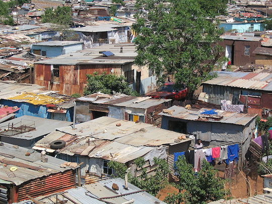 The Soweto shanty town, South Africa. Created by the Apartheid government. (Photo: Matt80/CC)