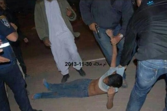 Police drag, arrest and allegedly beat Bedouin child at anti-Prawer protest