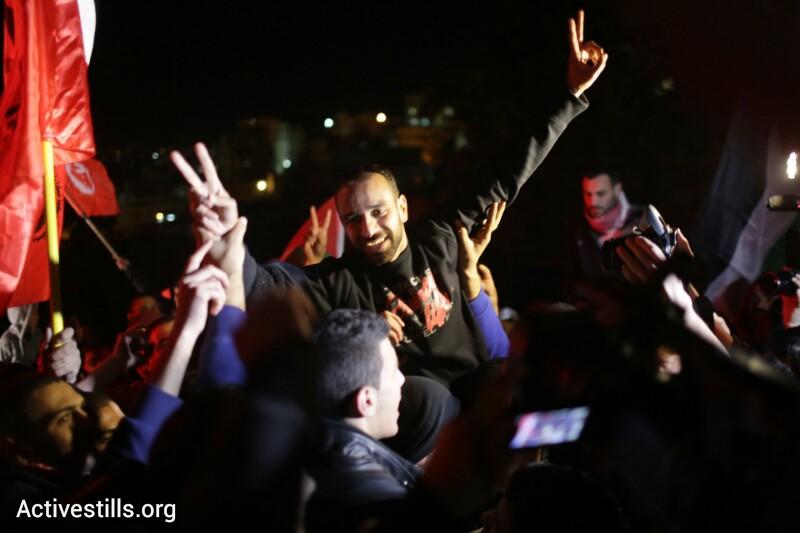 Israel releases former Palestinian hunger striker Samer Issawi