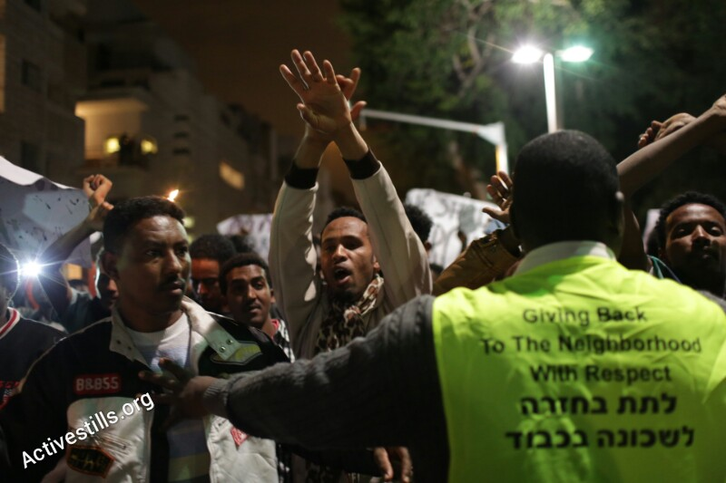 PHOTOS: Thousands of asylum seekers hold 'silent march' on streets of Tel Aviv