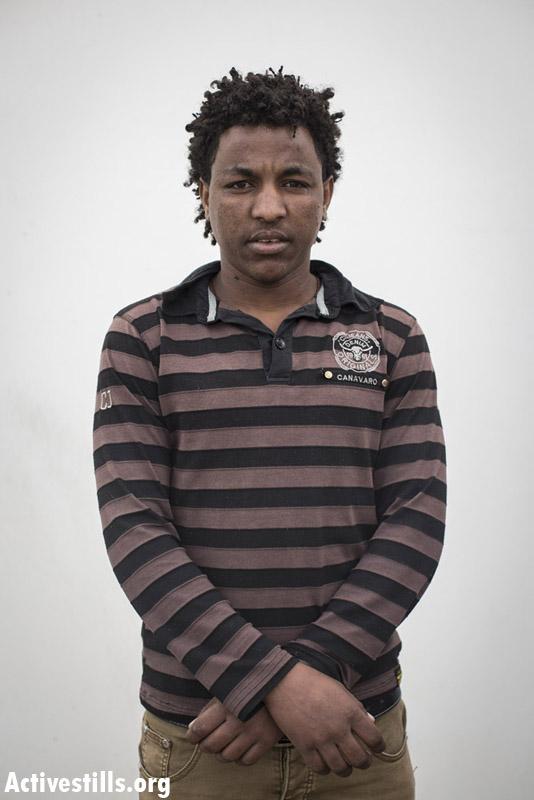 Haben, from Eritrea, two years in Saharonim prison