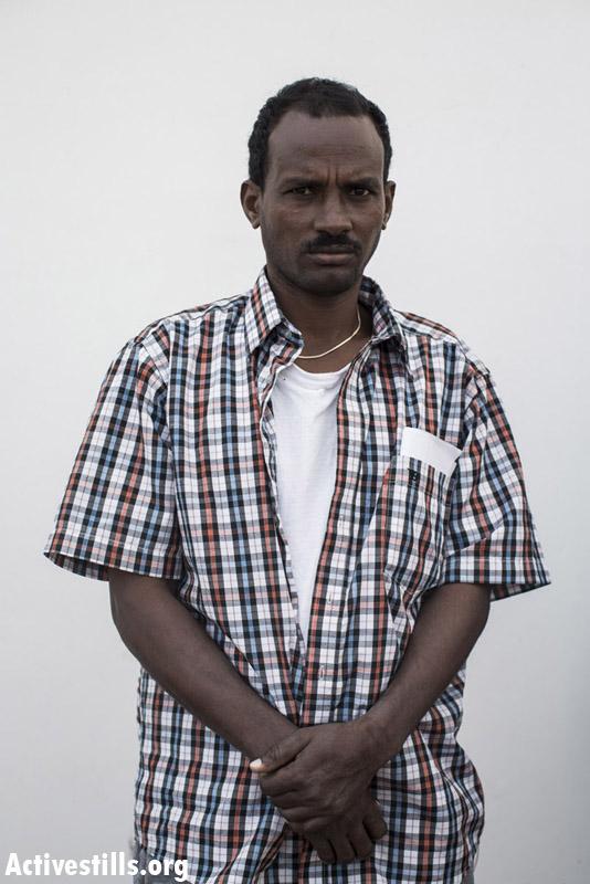 Zerei Gebresilasi, from Eritrea, two years in Saharonim prison.