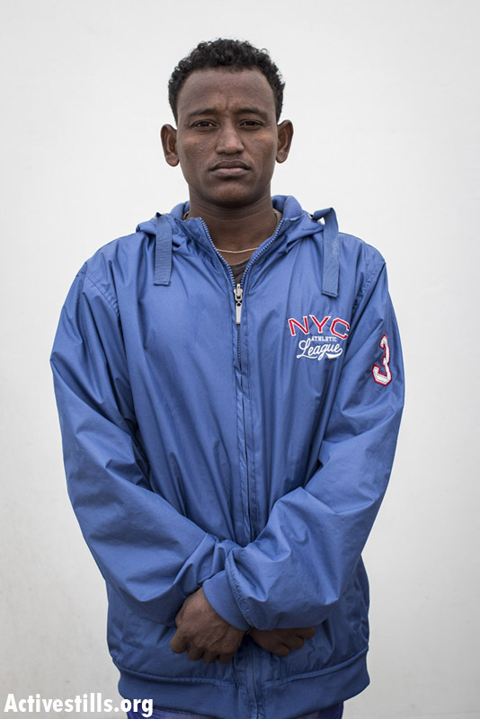 Malik Grezgiher, from Eritrea, a year and a half in Saharonim prison.