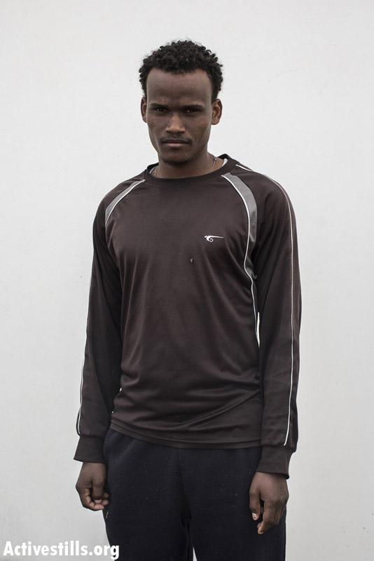 Merhawi, from Eritrea, two years, in Saharonim prison.