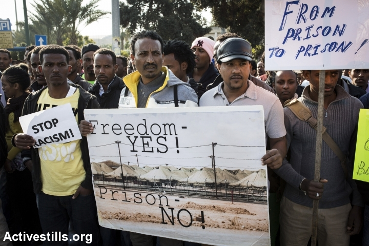 African asylum seekers strike to demand rights, hold unprecedented rally in Tel Aviv