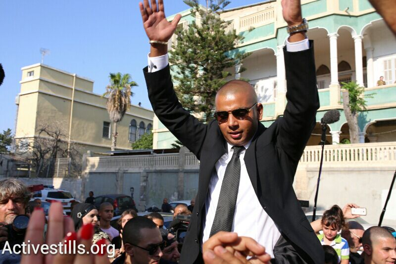 Mahmoud Mansour celebrates in Jaffa before heading to out to his wedding reception. (photo: Yotam Ronen/Activestills.org)