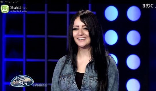 Manal Moussa's first audition (Screenshot from Arab Idol, MBC)