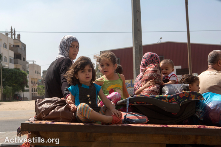 """During the Israeli military operation known as """"Protective Edge"""", almost a third of the population of Gaza, about 500,000 people, were displaced."""
