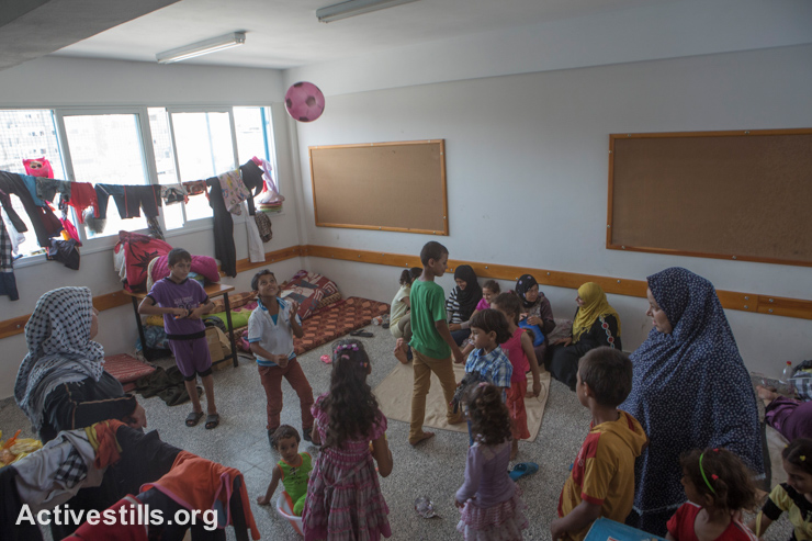 UNRWA schools were opened to house 289,000 Palestinians displaced by the offensive, but they were not equipped to deal with such numbers. UNRWA schools themselves have been targeted while they were sheltering displaced Palestinians, including a school in Beit Hanoun on July 24 (11 killed and more than 200 wounded), a girls school in Jabaliya on July 29 (15 dead, over 100 injured), and a preparatory school in Rafah on August 3 (10 dead).