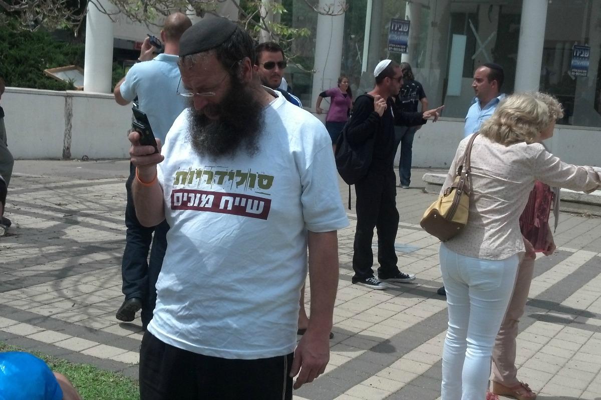 Baruch Marzel at Tel Aviv University, May 2012 (Photo: Dahlia Scheindlin)