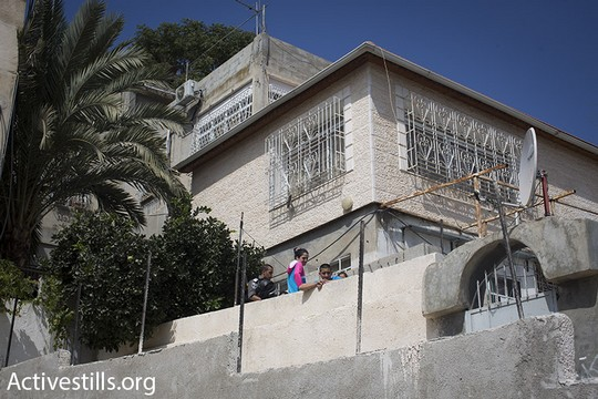 The Hayat family home in Silwan, September 30, 2014. (Photo by Oren Ziv/Activestills.org)