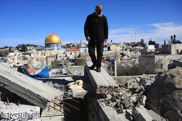 The ruins of a Palestinian home in the Old City of Jerusalem that Israel demolished. (File photo by Anne Paq/Activestills.org)