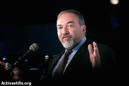 Israeli Foreign Minister Avigdor Liberman (Photo by Yotam Ronen/Activestills.org)