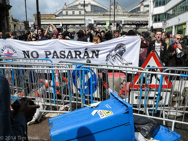 The European model. An ant-fascist protest in the UK. (Photo by Tim Buss/CC)