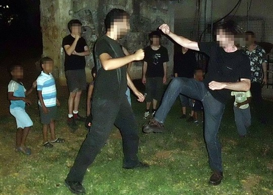 Self defense training (Courtesy of 'Solidarity')