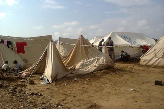 The Yazidi refugee camp, Khanek (photo: Saad al-Avdal)