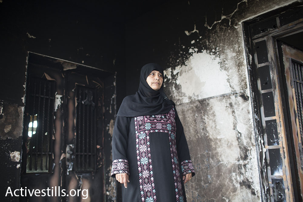Huda Abu Ghani in her home, November 23, 2014. (photo: Oren Ziv/Activestills.org)