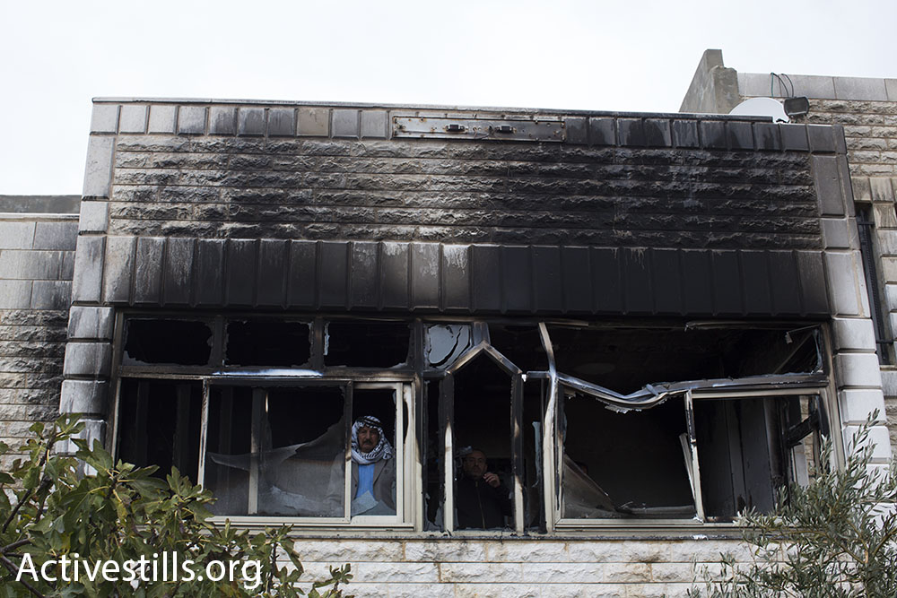 The home that was burned in Khirbet Abu Falah, north of Ramallah, November 23, 2014 (photo: Oren Ziv/Activestills.org)