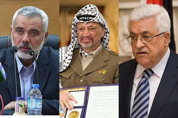 Ismail Hanniyeh, Yasser Arafat, Mahmoud Abbas