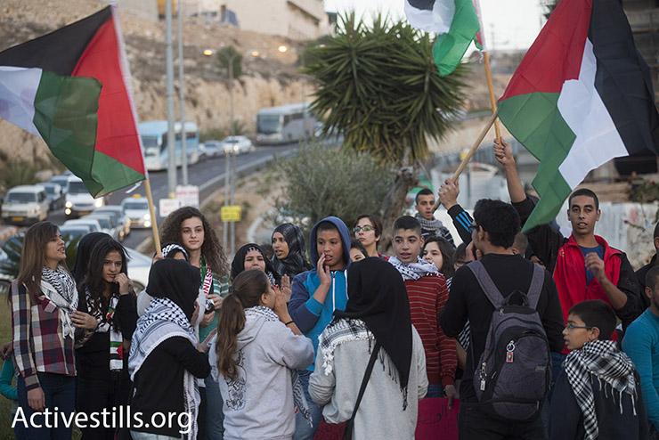 Palestinian citizens of Israel protest against the Hamdan killing in Umm al-Fahm. (photo: Oren Ziv)