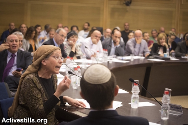 File photo of MK Orit Struck speaking at a Knesset committee meeting, June 11, 2013. (Photo by Oren Ziv/Activestills.org)