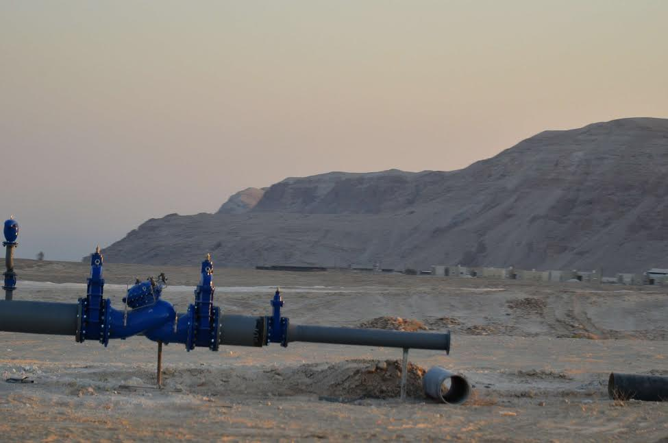 New water infrastructure in the Jordan Valley. (photo: Cinzia Di Napoli)
