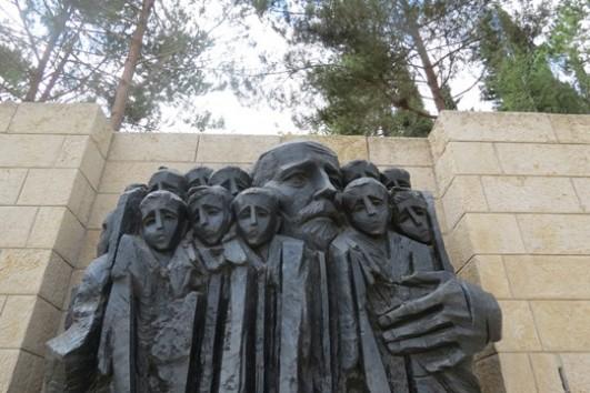 Janus Korczak Memorial, Yad Vashem Museum, Jerusalem. (Yuval Ben-Ami)