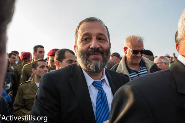 Shas MK Aryeh Deri (Photo by Activstills.org)