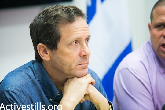 Isaac 'Buji' Herzog will likely join forces with Tzipi Livni to form a center-left bloc in the upcoming elections. (photo: Activestills.org)