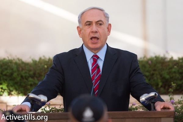 Benjamin Netanyahu. (photo: Activestills.org)