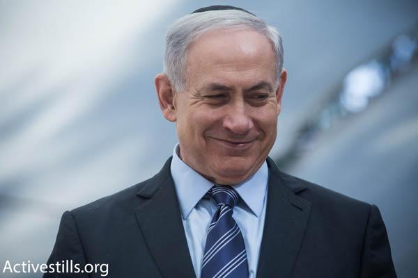 Israeli Prime Minister Benjamin Netanyahu (Photo by Activestills.org)