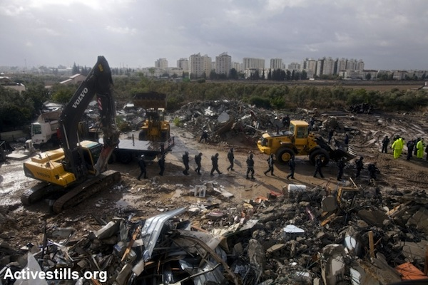The aftermath of a home demolition in Lydd, Israel, September 2, 2011. (photo: Oren Ziv/Activestills.org)
