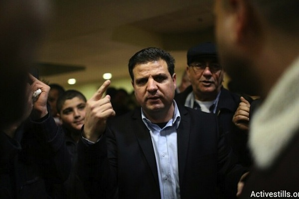 Hadash Chairman Ayman Odeh. Odeh was elected to first place in the united Arab slate. (photo: Oren Ziv/Activestills.org)