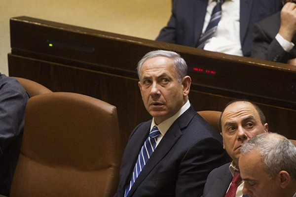 Will Netanyahu have to share power in the next government? (photo: Oren Ziv/Activestills.org)